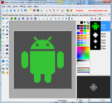 Android Icon Studio screen shot